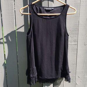 Mackage Black Silk Blouse Size XS